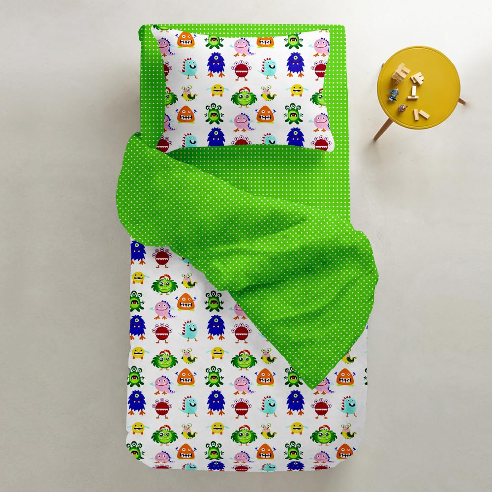 """Детский постельный комплект в кроватку """"Monster"""" (бязь, 100% хлопок)"""