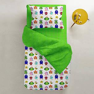 """Детский постельный комплект в кроватку """"Monster"""" (бязь, 100% хлопок), фото 2"""
