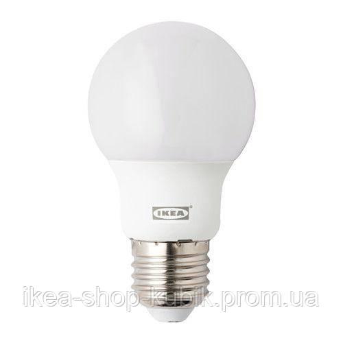 """IKEA """"РИЭТ"""" Світлодіод E27 400 лм, кулястий молочний"""