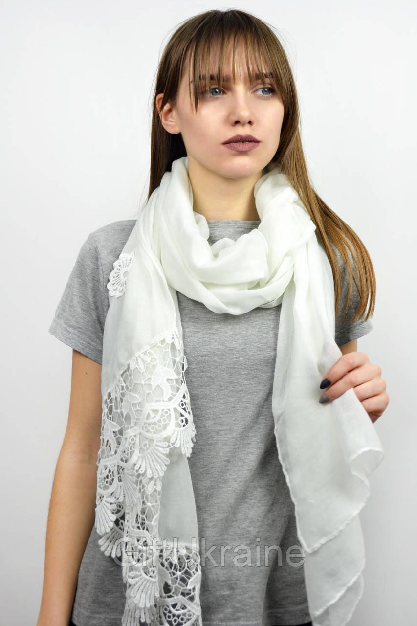 Шарф Famo Есения белый 180х80 см - 136397