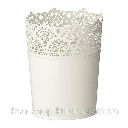 """IKEA """"СКУРАР"""" Кашпо, белый с оттенком, 10.05 см"""