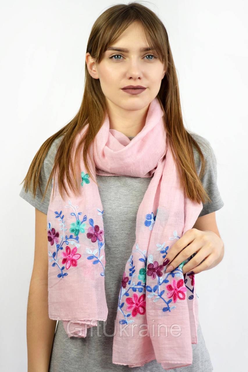Шарф Famo Нела розовый 180х80 см - 136842
