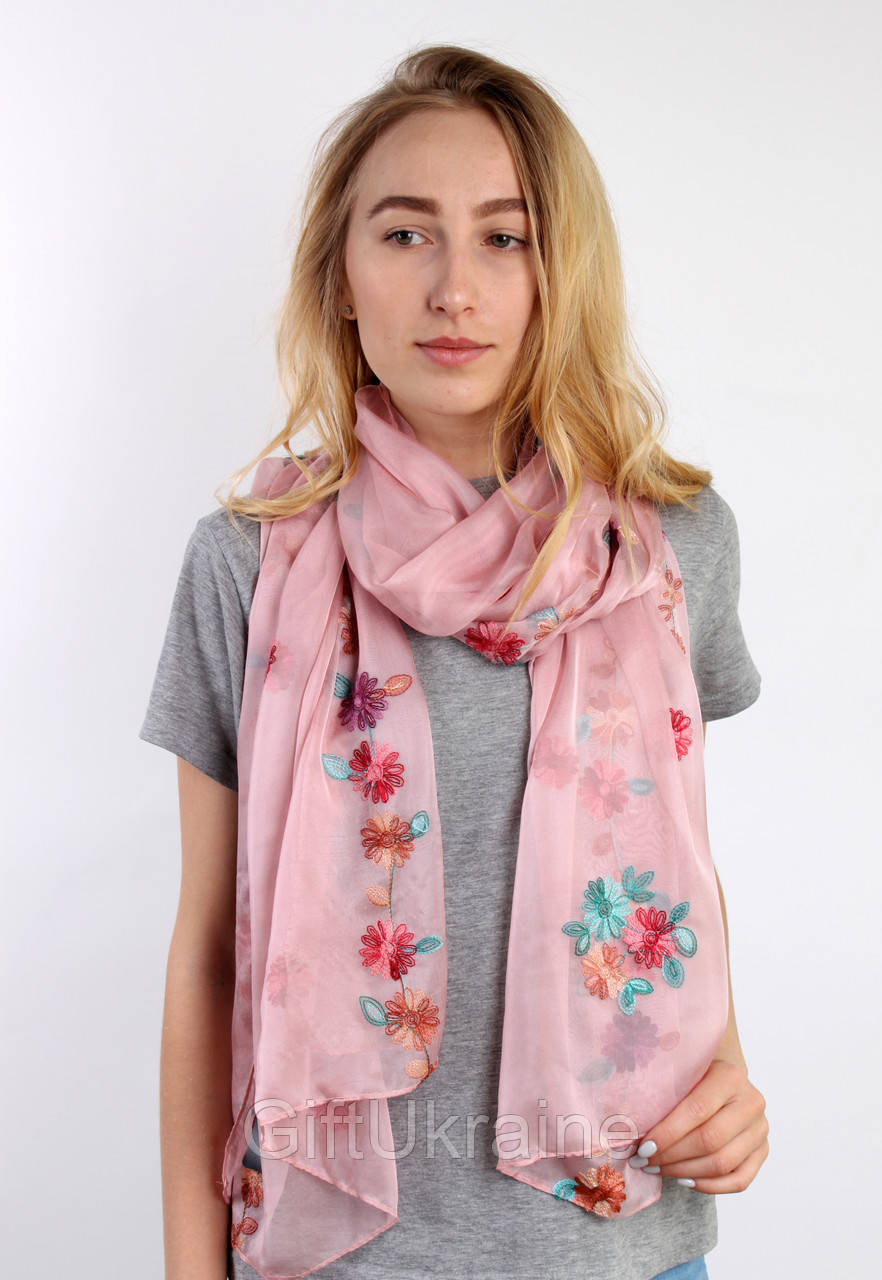 Шарф La Feny Джесика розовый 185х80 см - 136347