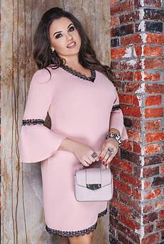 Батальні весняні сукні Леона, рожеве