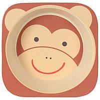 Тарелка из бамбукового волокна Мартышка Eco
