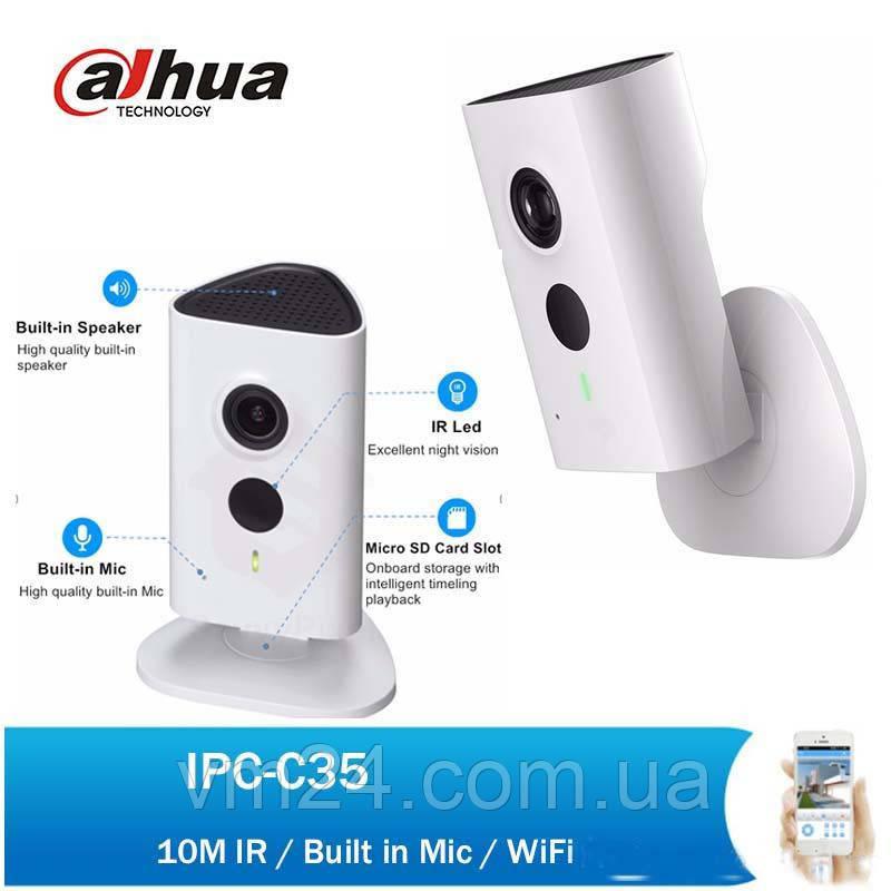 IP Камера 3 МП IP Wi-Fi  видеокамера Dahua DH-IPC-C35P