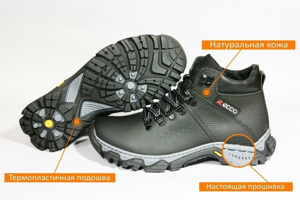 e47940b7 Мужские зимние ботинки ECCO прошиты прокл, Натуральная кожаная обувь ...