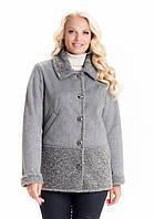 Купить модную женскую демисезонную куртку-дубленку,размеры 44-56, фото 1