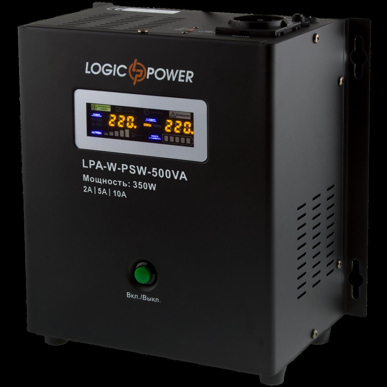 ИБП Logicpower LPA-W-PSW-500VA (350Вт) 2A/5A/10A 12В с правильной синусоидой