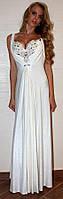 Платье Вечернее  Великолепный лиф БАТАЛ цвет молоко