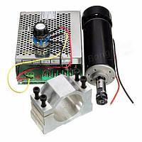 Электро шпиндель 500 Вт 100 В с блоком питания, регулятором скорости икронштейном для ЧПУ фрезерного станка П