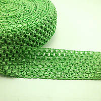 Лента-резинка вязанная зеленая 60 мм метр