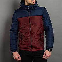Мужская демисезонная куртка со съемным капюшоном, фото 2