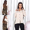 Блузка с леопардовой спинкой / софт, шифон / Украина 15-461