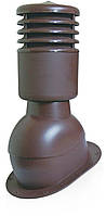 Вентвыход с колпаком утепленный Kronoplast KPIO для плоской кровли Серый
