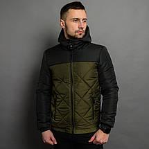 Демисезонная мужская  куртка со съемным капюшоном, фото 3