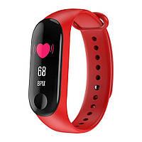 Фитнес трекер UWatch М3 Black спортивные часы, sport watch. Международная версия Xiaomi Band М3-Красный