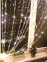 Гирлянда Водопад 240 Led ламп свет жёлтый  размер 2м х 2м