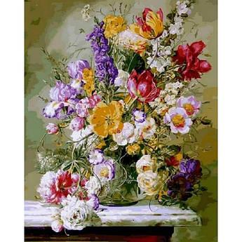 Картина по номерам Цветочная рапсодия I, 40x50 см., Babylon
