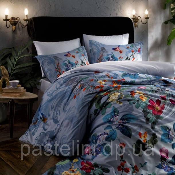 ТАС Digital  June mavi  семейный комплект постельного белья