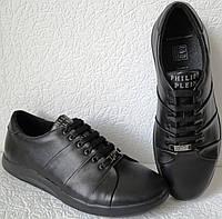 Philipp plein Весняні жіночі шкіряні туфлі великі розміри кеди на шнурках з  натуральної шкіри весна 2019 8c45cfc4654e8