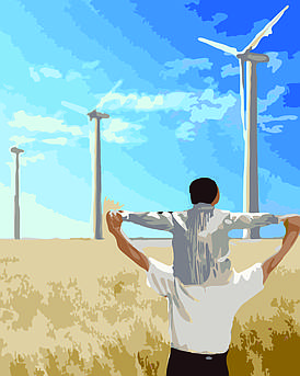 Картина по номерам Энергия, 40x50 см., Домашнее искусство