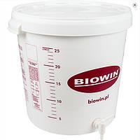 Емкость для брожения 30л с крышкой и краном  Biowin