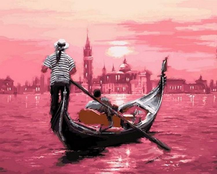 Картина по номерам Розовый закат Венеции, 40x50 см., Babylon