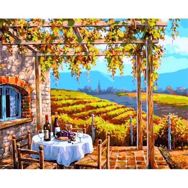 Картина по номерам Виноградные сады. Худ. Ким Сунг, 40x50 см., Babylon