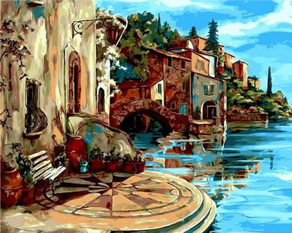 Картина по номерам Венецианское кружево, 40x50 см., Mariposa
