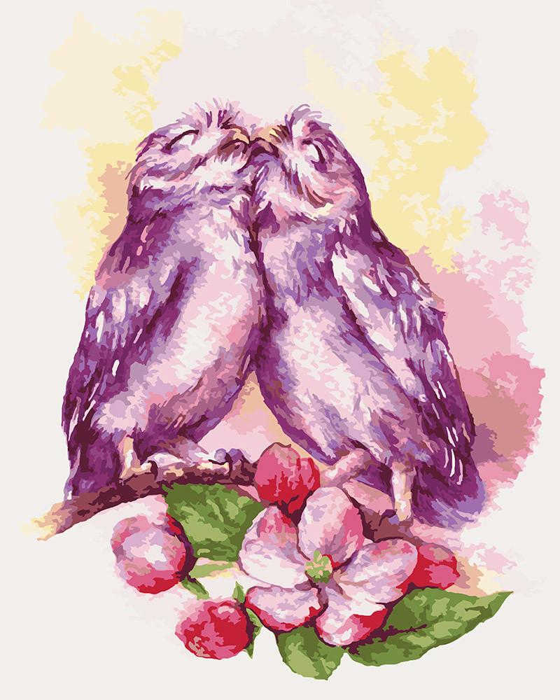 Картина по номерам Милые совушки, 40x50 см Идейка