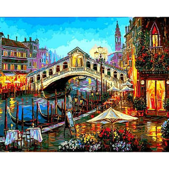 Картина по номерам Бистро Гранд-канал Венеция, 40x50 см Mariposa