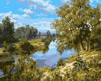Картина по номерам Пейзаж с рекой, 40x50 см., Babylon