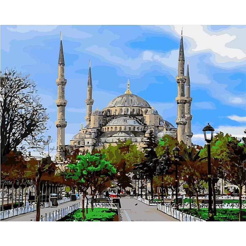 """Картина по номерам  """"Стамбул. Голубая мечеть"""", 40x50 см., Babylon"""