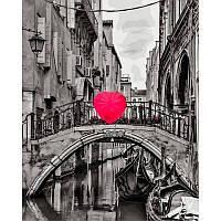 Картина по номерам Зонт в форме сердца худ. Асаф Франк, 40x50 см., Babylon