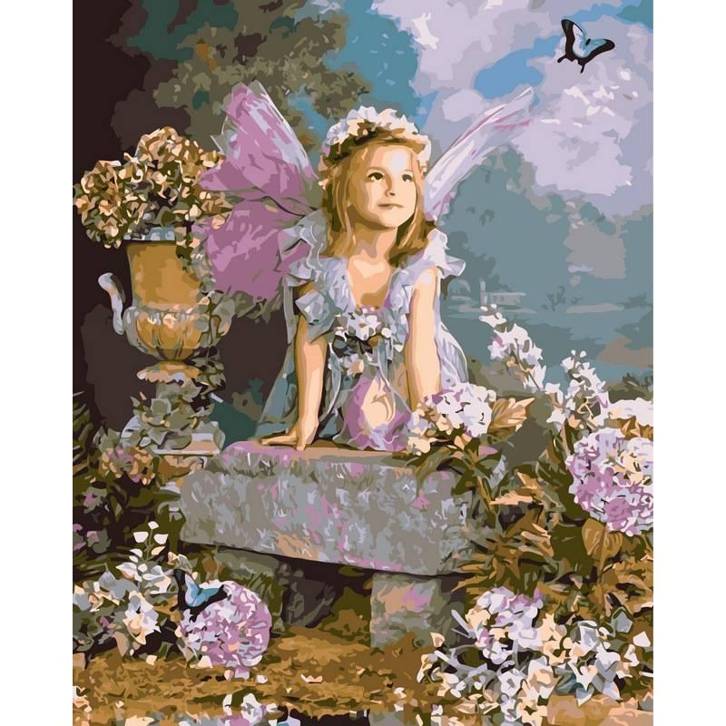 Картина по номерам Весенний ангел, 40x50 см., Babylon