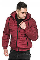 Короткая курточка мужская бордо