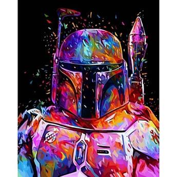 Картина по номерам Боба Фетт Звездные войны, 40x50 см Babylon