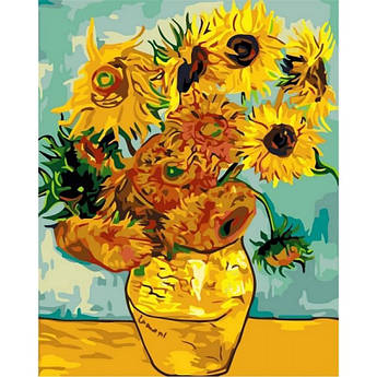 Картина по номерам Подсолнухи. Худ. Винсент Ван Гог, 40x50 см., Babylon