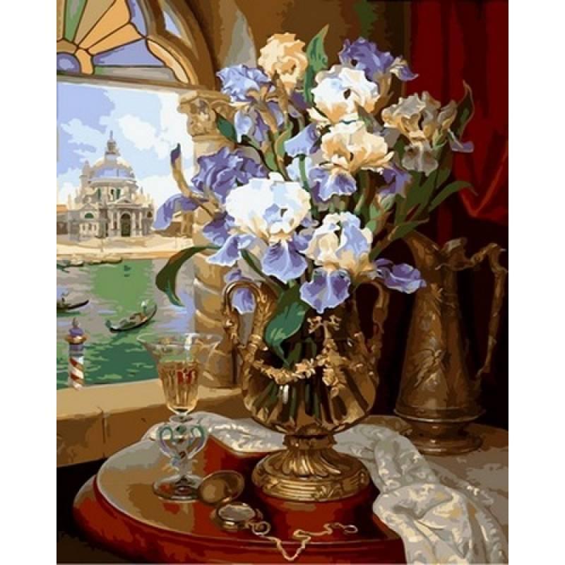Картина по номерам Венецианские ирисы. Худ. Владимир Абат-Черкасов, 40x50 см Babylon