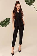 Стильный женский костюм жилет и брюки черный