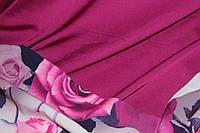Ткань шелк армани фуксия, фото 1