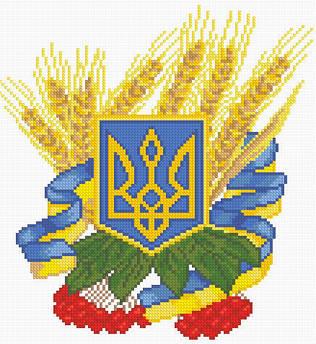 """Алмазная вышивка """"Герб украины"""""""