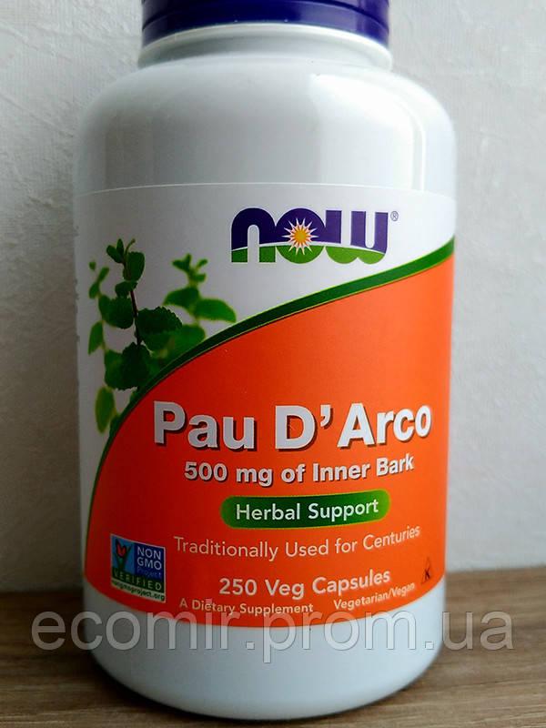 Кора муравьиного дерева, Now Foods (500 мг / 250 капсул)