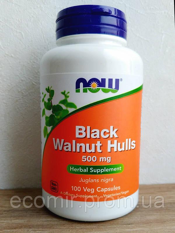 Черный орех, Now Foods (500 мг / 100 капсул)