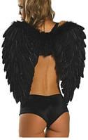 Черные крылья демона из перьев! Черные крылья ангела перьевые