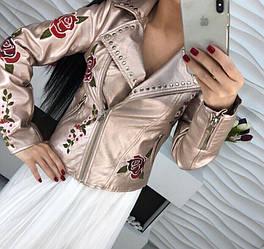 Женская куртка косуха люкс качество РАЗНЫЕ ЦВЕТА (фабричный китай) код  1758