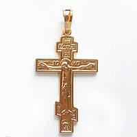 Крестик  xuping золото 18к  длина 4см к292