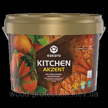 Вологостійка особливо міцна фарба для внутрішніх робіт Eskaro Akzent Kitchen (Эскаро Акзент Кичен) 0,9 л.