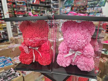 Мишка из роз 40 см без сердца (коробка в комплекте)